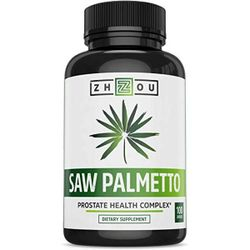 zhou nutrition - Saw Palmetto - Support Prostate Health, 100 Capsules