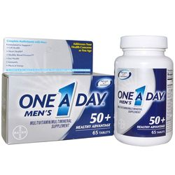 One A Day Men's 50+ Healthy Advantage Multivitamin/Multimineral 65 Tablets