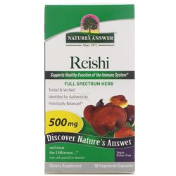 Nature's Answer Reishi - 500 mg - 90 Vegetarian Capsules