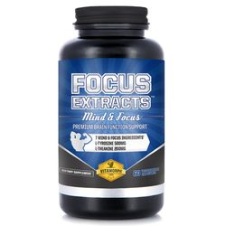 Focus Extracts | 7 Premium Mind & Alertness Nootropic Extracts for Natural Cognitive Brain Function | L-Theanine, Bacopa, Acetyl L-Tyrosine, Choline, DMAE by Vitamorph Labs - 60 Veg Caps