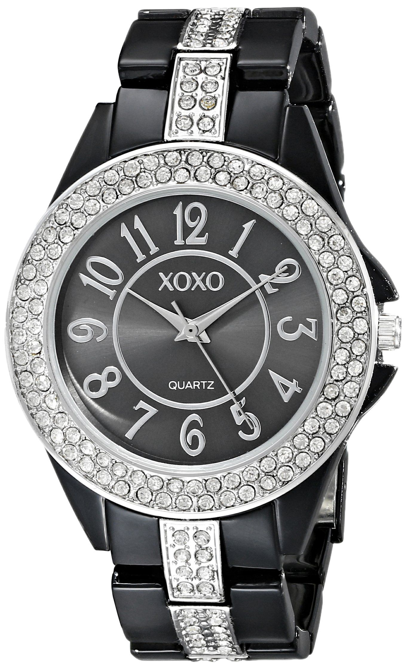 Women 39 s watches xoxo xo5461 womens black dial analog quartz watch with alloy strap was listed for Watches xoxo